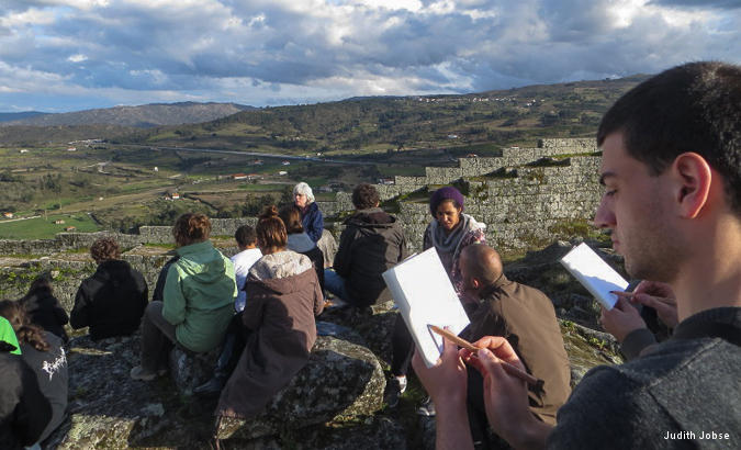 Observation exercise in Celorica da Beira (Portugal).