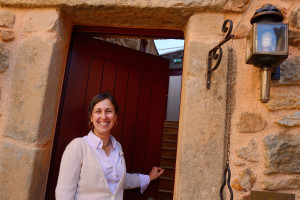 Ana Berliner, owner and operator of Casa Cisterna Bed and Breakfast. Near the Faia Brava reserve, Coa valley, Portugal, Western Iberia rewilding area