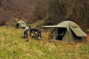 Setting up Rewilding Flycamp in the Southern Carpathians