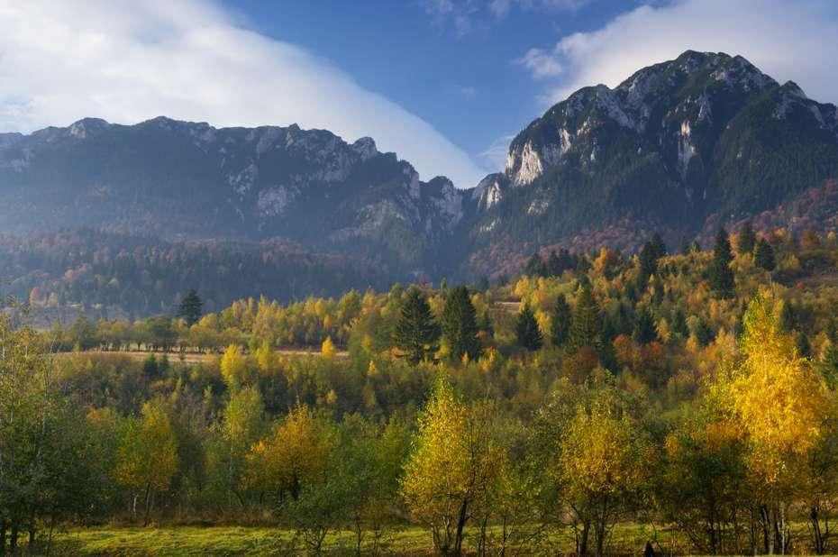 Rock of the King, (Mt. Piatra Mica 1816 m and Tumu 1923 m), Southern Carpathians, Romania