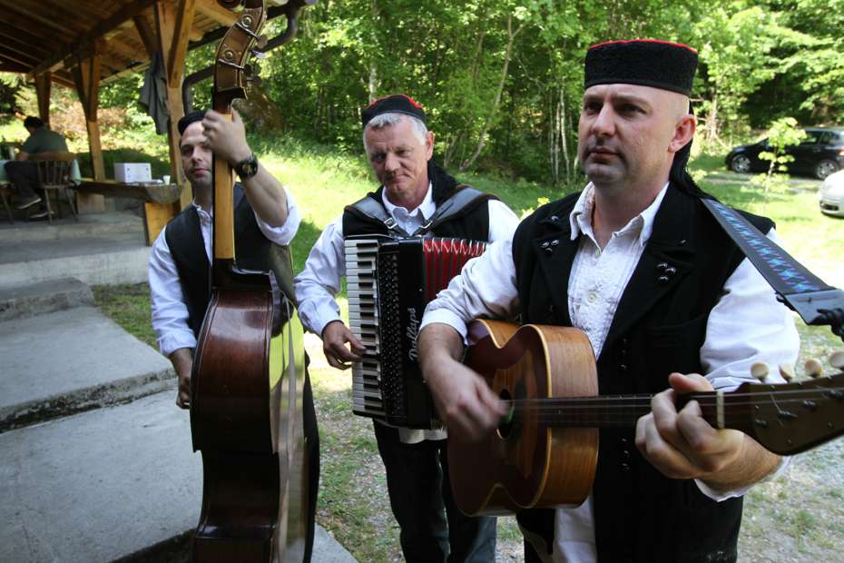 Local musicians, Velebit Mountains, Croatia