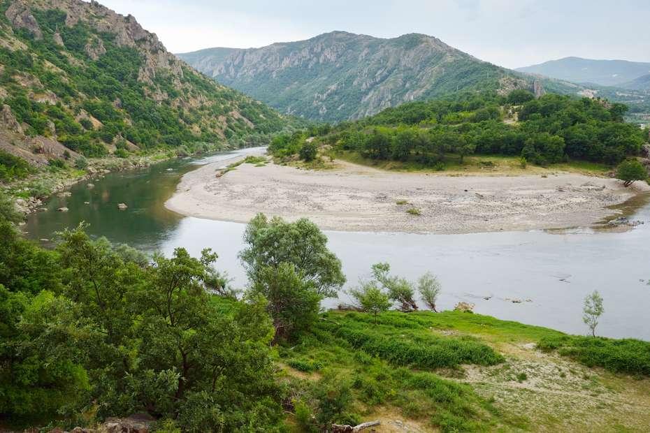 Arda river canyon bend, Rhodope Mountains, Bulgaria