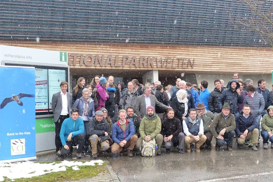 The team the 2016 Annual bearded vulture conference. Image BSPB