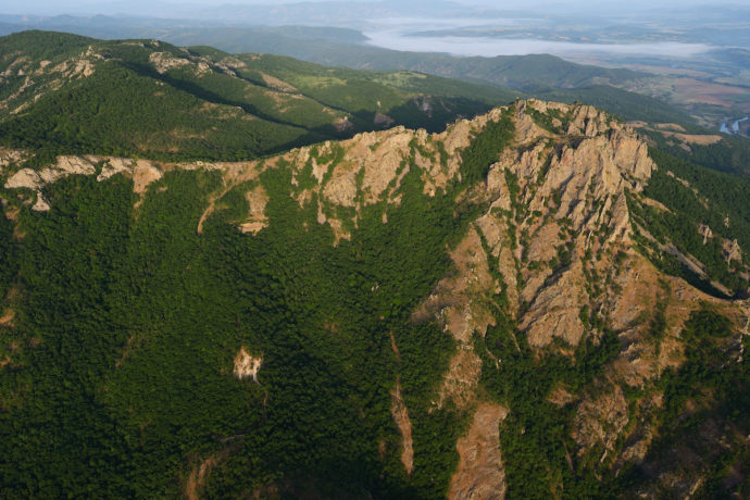The Rhodope Mountains of Bulgaria, where Philip Marinov travelled as an intern to test Rewilding Europe's rewilding scale.