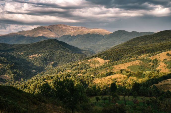The spectacular scenery of the Tarcu Mountains, in Romania's Southern Carpathians.
